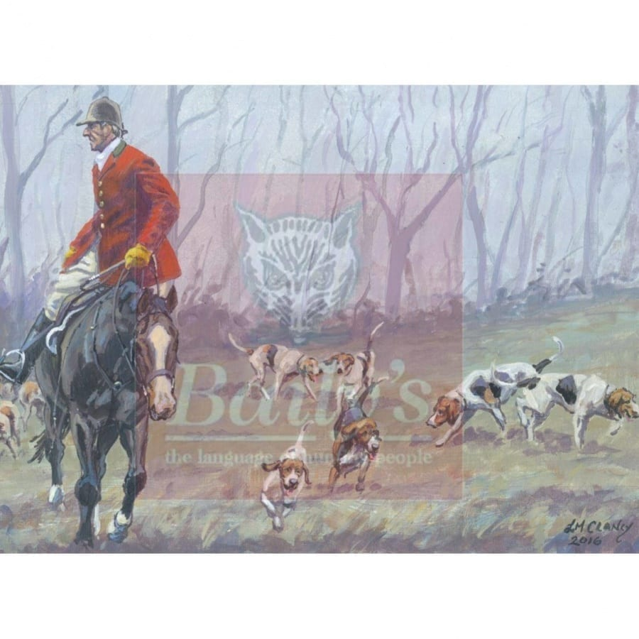 Limited Edition Liam Clancy Artwork Commissioned for the Bailys Hunt Report Book (Mounted) The Keswick Hunt