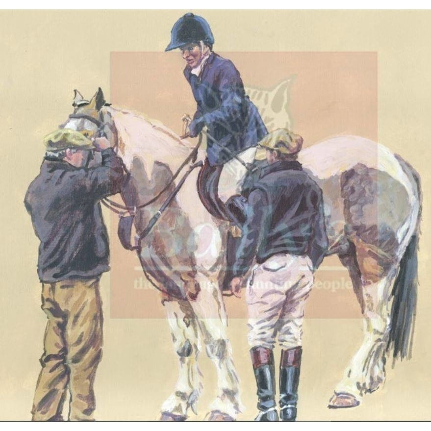 Limited Edition Liam Clancy Artwork Commissioned for the Bailys Hunt Report Book (Mounted) The Hireling